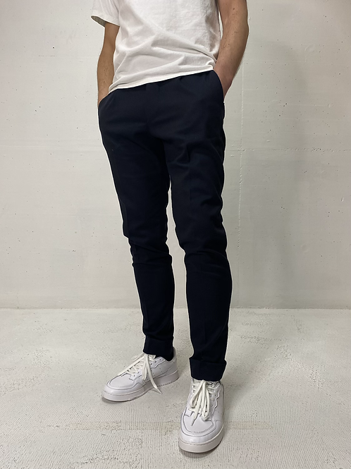 Drykorn Stretch Pants Cuffed Dark Navy