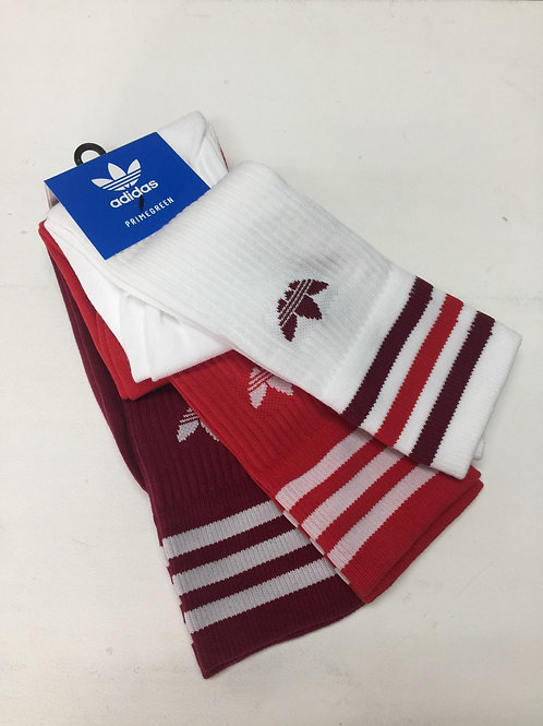 Adidas 3-Pack Socks White-Red