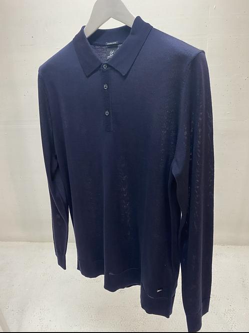 Strellson Knitted Polo Navy
