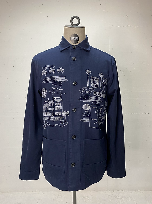 Scotch & Soda Embroided Shirt Navy