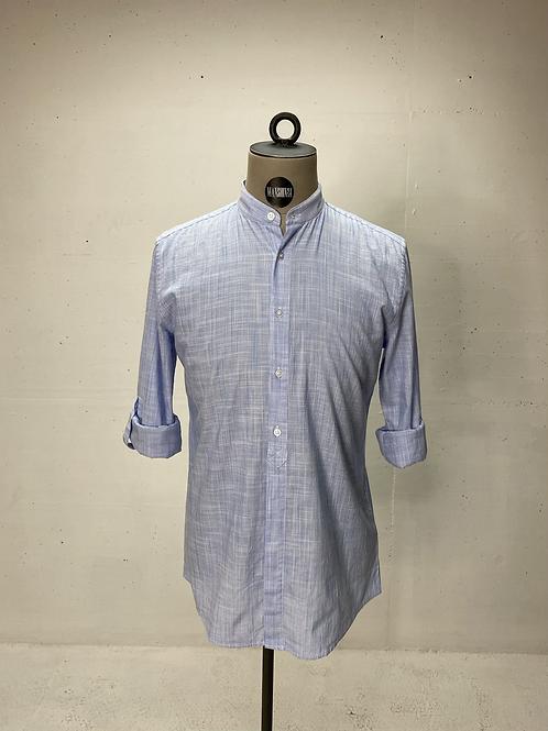Strellson Mao Collar Shirt Light Blue