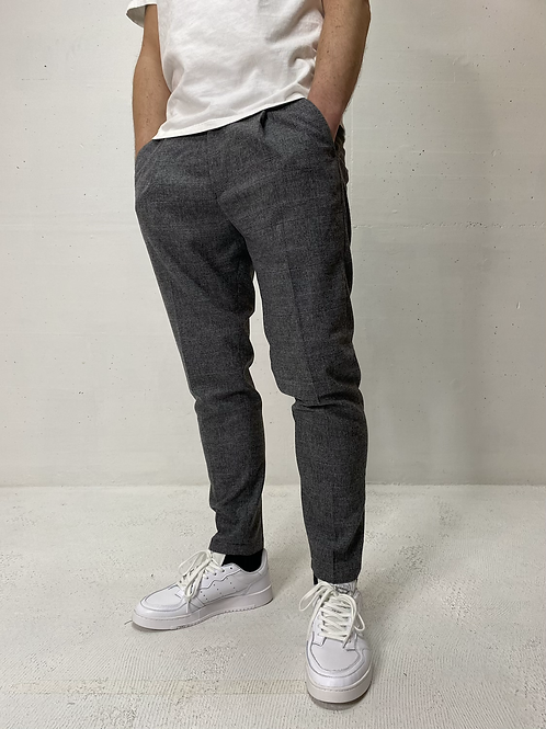 Drykorn Wool Checkered Stretch Pants Grey