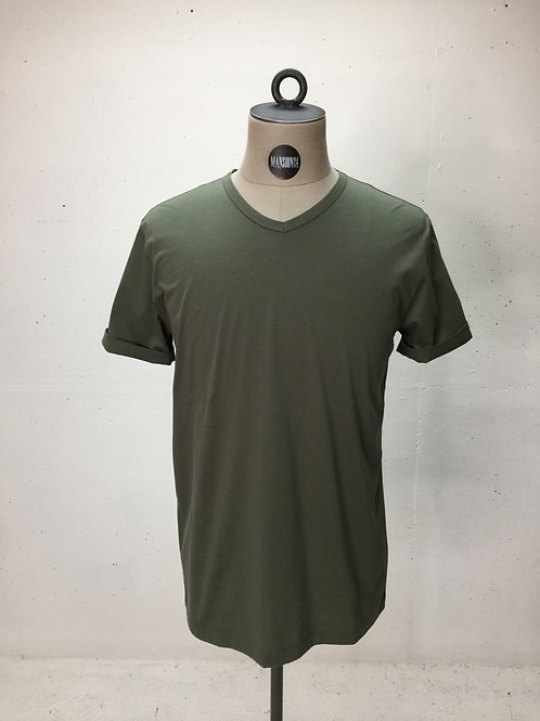 Drykorn V-Neck s/s Tee Army Green
