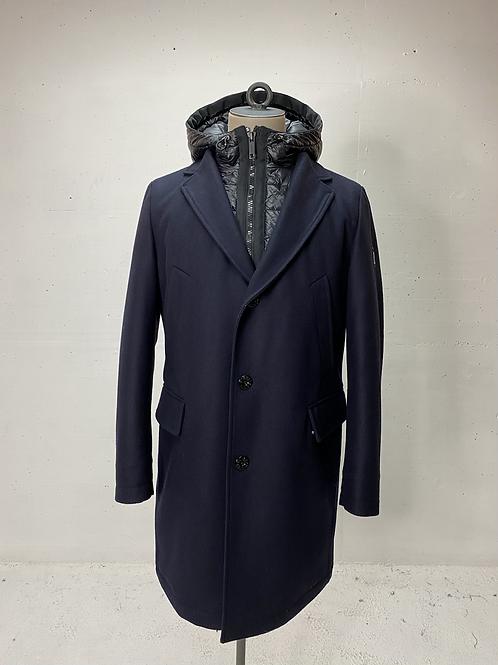 Strellson Softshell Double Coat Hooded Navy