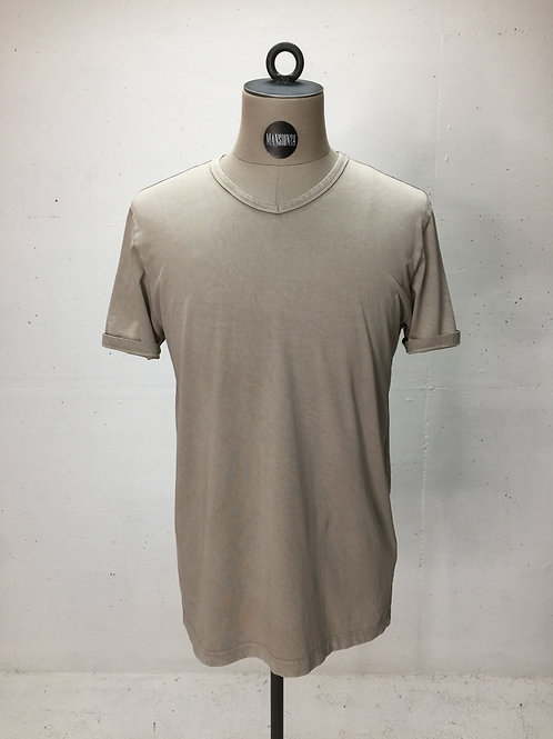Drykorn V-Neck s/s Tee Washed Beige