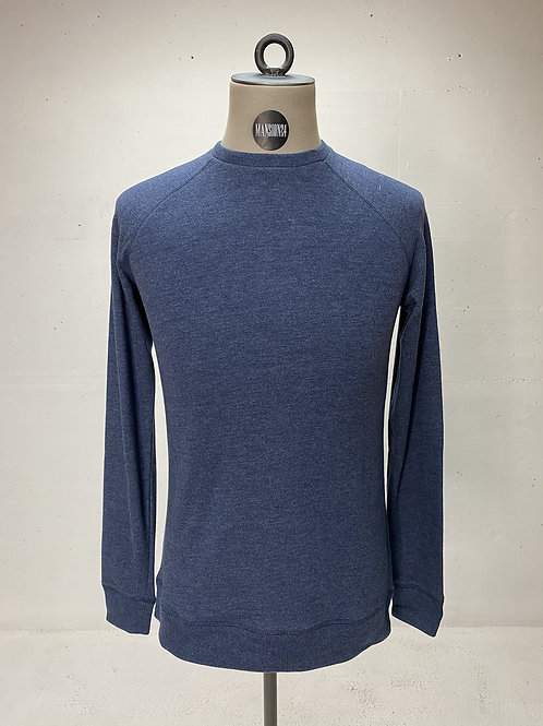 DENHAM Soft Knit Crewneck Blue