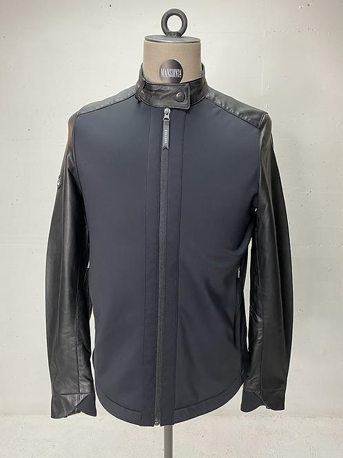 Koll3kt High Tech Leather Jacket Black