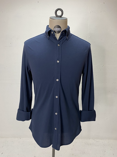 T of S Dressed Stretch Shirt Navy