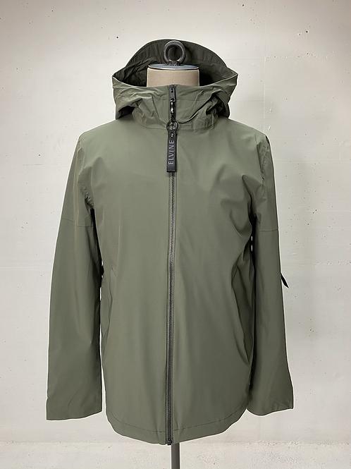 Elvine Hooded Stretch Jacket Army