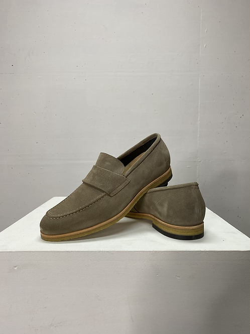 Blackstone Suede Loafers Taupe