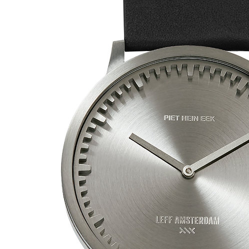 Leff Amsterdam Tube Watch Black Leather T40
