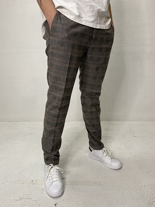 Drykorn Check Chino Taupe | Grey