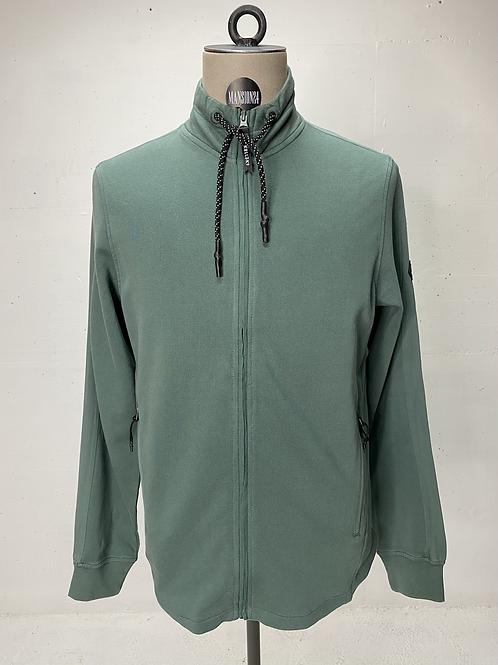 Koll3kt Faded Zip Sweat Green Slate