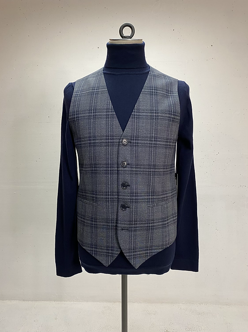 Drykorn Vest Grey Check