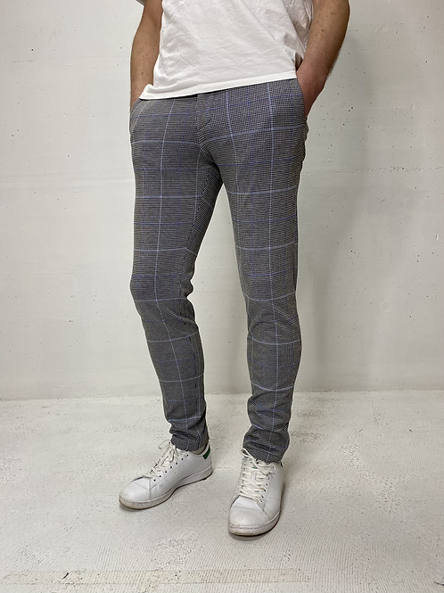 Drykorn Comfort Stretch Chino Blue Check