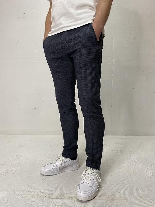 Drykorn Stretch Pants Print Dark Blue