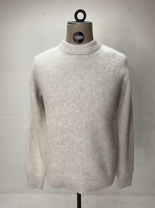 T of S Fluffy Woolen Knit Off White