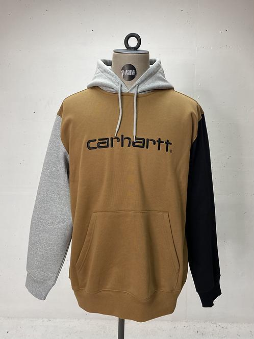 Carhartt Tri-Colour Hoodie Brown/Grey/Black