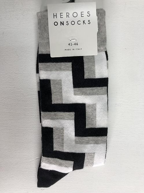 Heroes On Socks Otson Grey