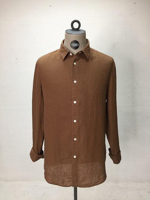 Drykorn L/S Linen Shirt Cognac