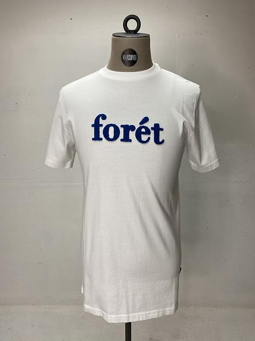 Forét Logo T White | Blue