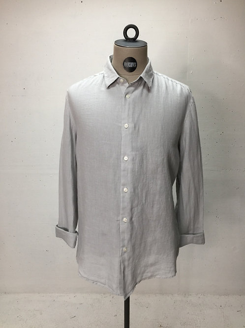 Drykorn L/S Linen Shirt Light Grey