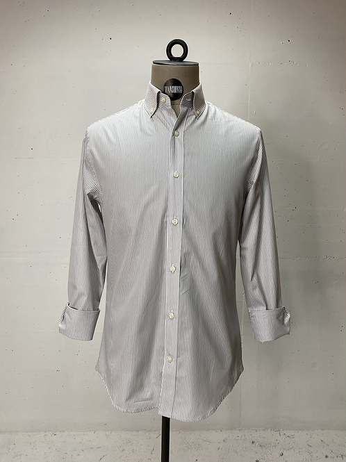 T of S Dressed Striped Shirt White/Grey