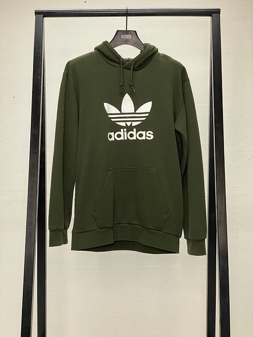 Adidas Hooded Logo Sweat Green