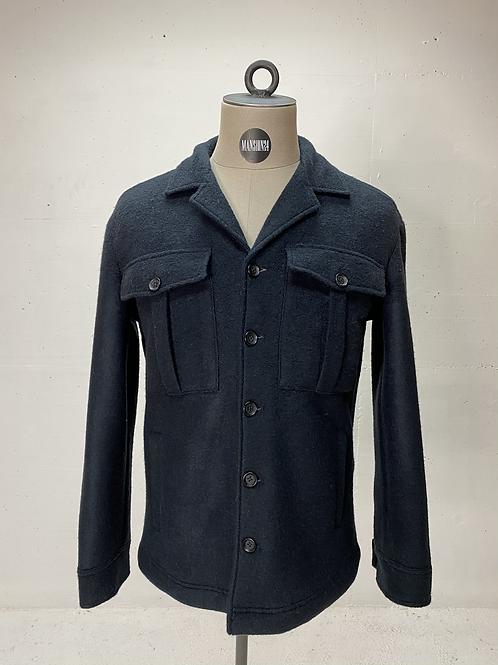 Drykorn Wool Sherpa Jacket Navy