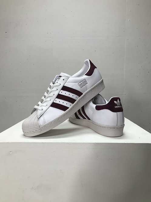 Adidas Superstar 80s White/Burgundy
