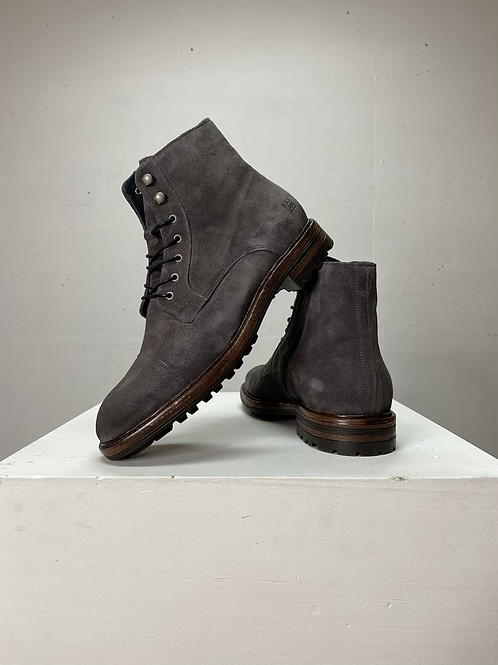 Blackstone Dark Grey Suede Boots