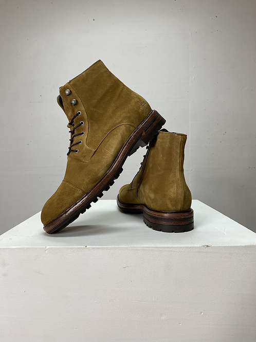 Blackstone Dull Gold Suede Boots