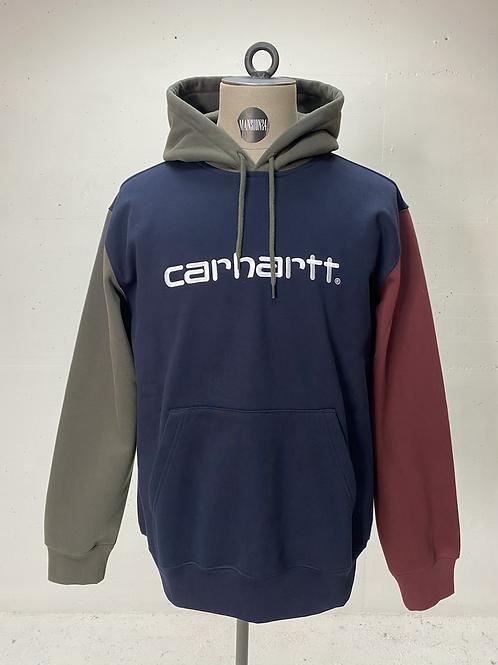 Carhartt Tri-Colour Hoodie Navy/Green/Burgundy