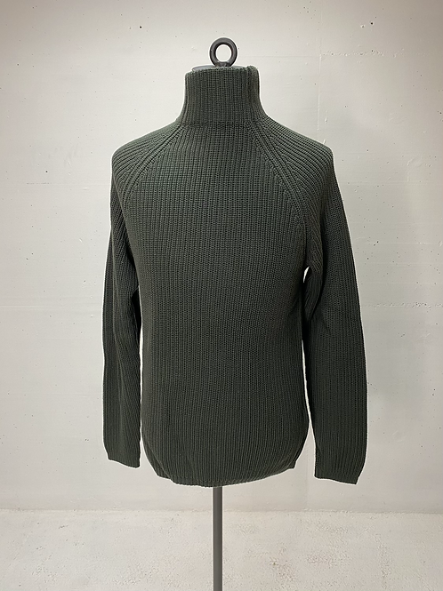 Drykorn Cotton Turtle Knit Army