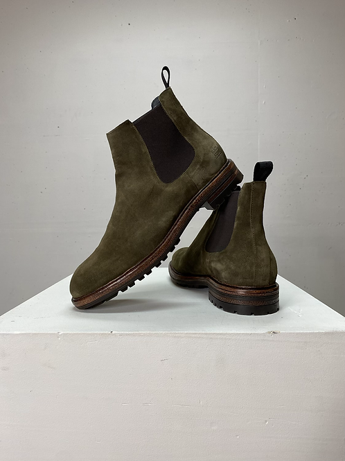 Blackstone Chelsea Boot Suède Dark Olive