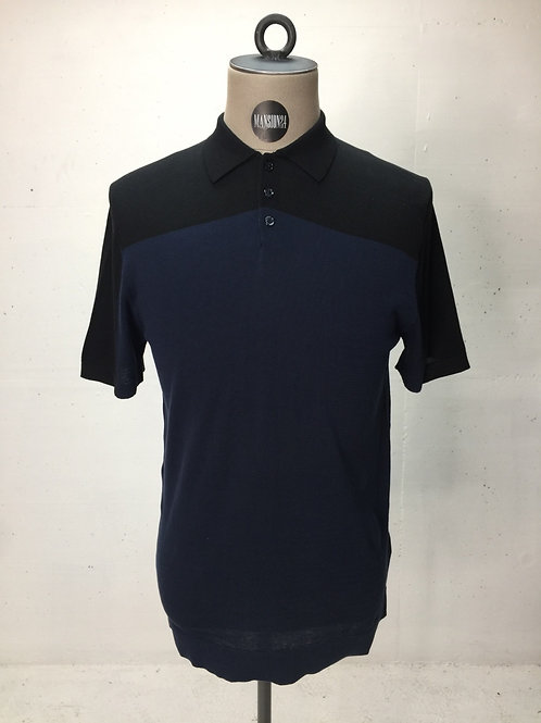 Drykorn Knitted Color Block Polo