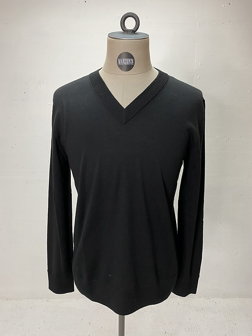 Drykorn Virgin Wool V-Neck Knit Black