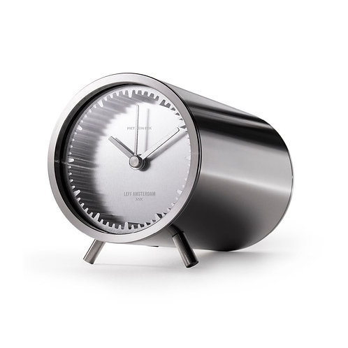 Leff Amsterdam Tube Clock Steel