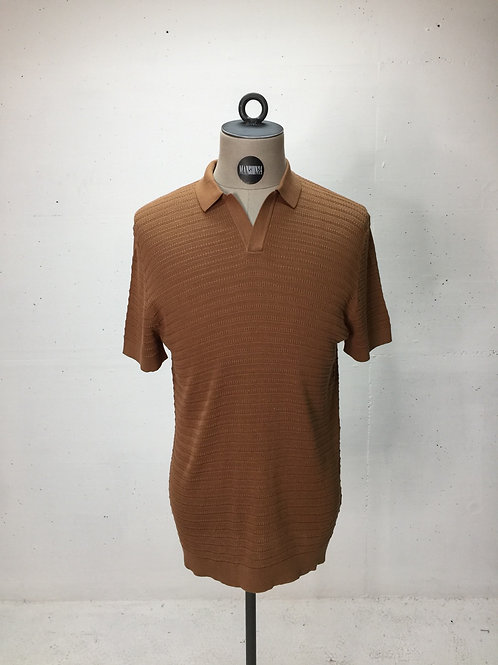 Drykorn Knit No-Button Polo Brown