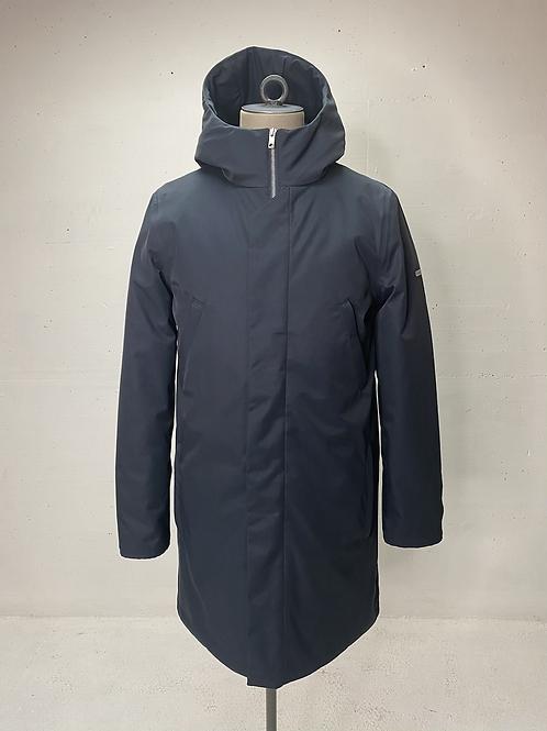 Elvine Hooded Long Jacket Navy
