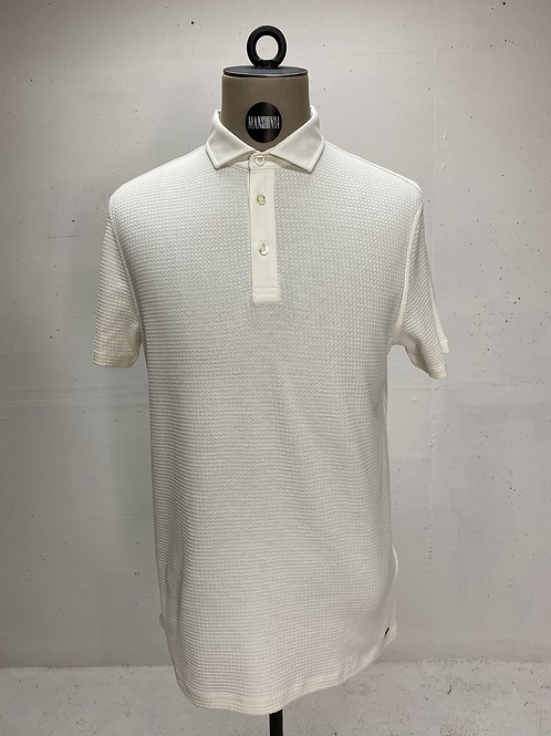 Strellson Structured Polo Off White