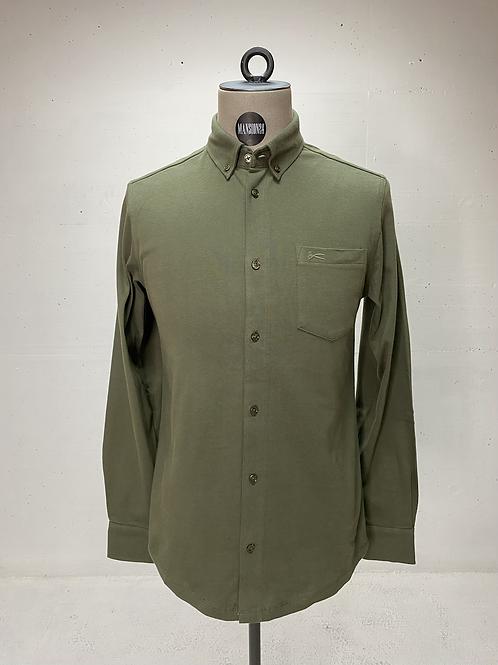 DENHAM Knitted Shirt Army