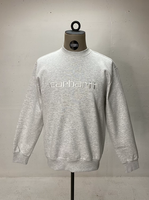 Carhartt Script Crewneck Sweater Light Grey