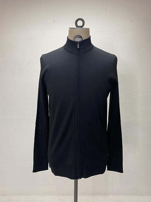 Strellson Knit Zip Vest Black