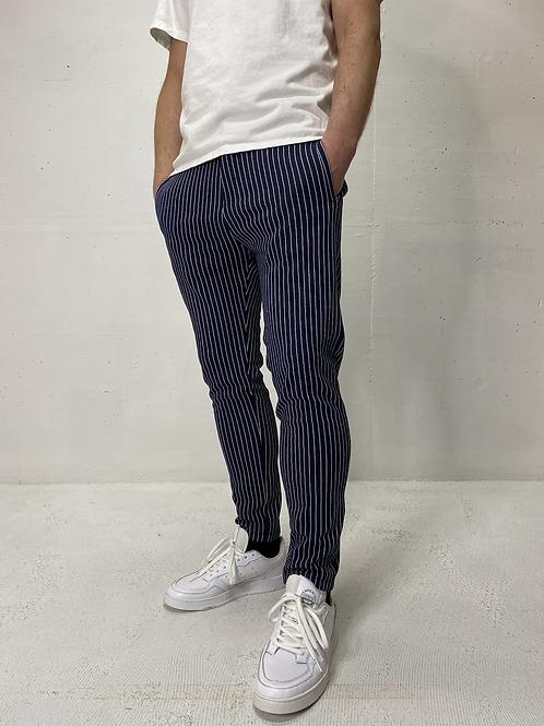 Drykorn Stretch Pants Striped Navy/White