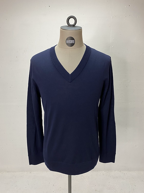 Drykorn Virgin Wool V-Neck Navy