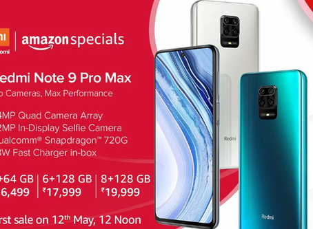 Redmi Note 9 Pro Max First Sale Set for May 12: Price in India, Specifications