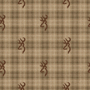 Buckmark Plaid Brown Flannel Sheets for cabelas.jpg