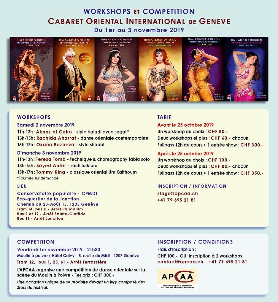 workshops cabaret oriental 2019