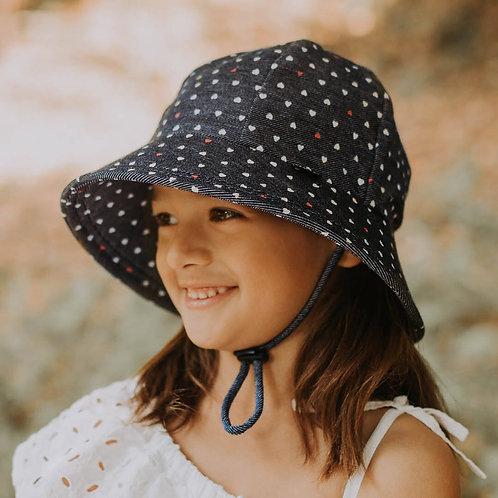 'Hearts' Kids Ponytail Bucket